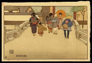 Charles W. Bartlett Woodblock - Kyoto