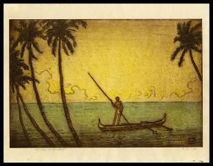 Charles W. Bartlett Etching - Hawaii