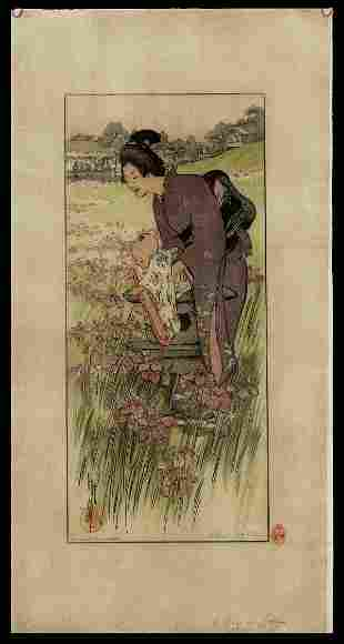 Helen Hyde Woodblock - A Day in June