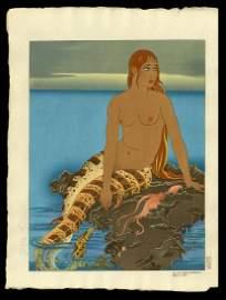 Paul Jacoulet Woodblock - Le Pacifique Mysterieux