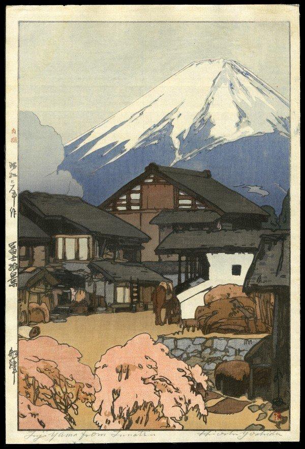 18: Hiroshi Yoshida Woodblock On Silk