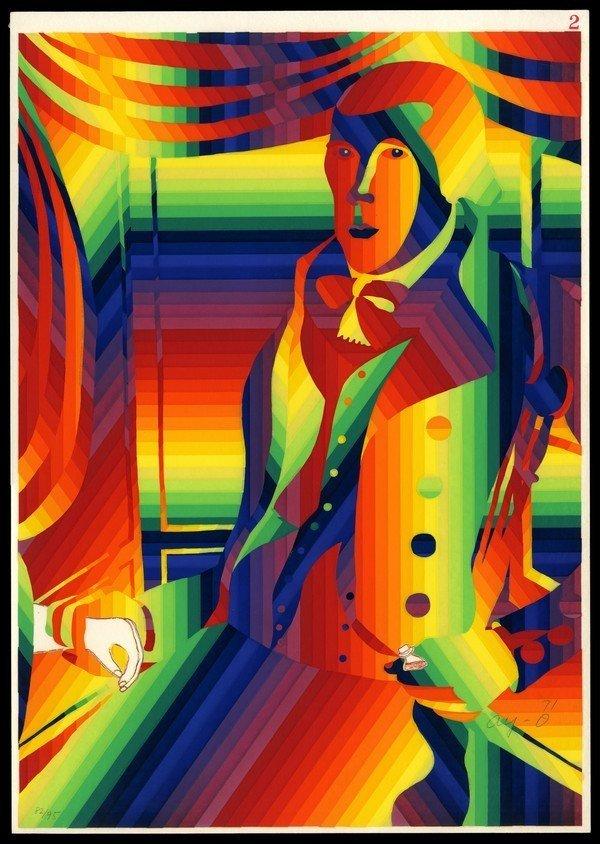 8: B. 1931 Ay-o Silkscreen