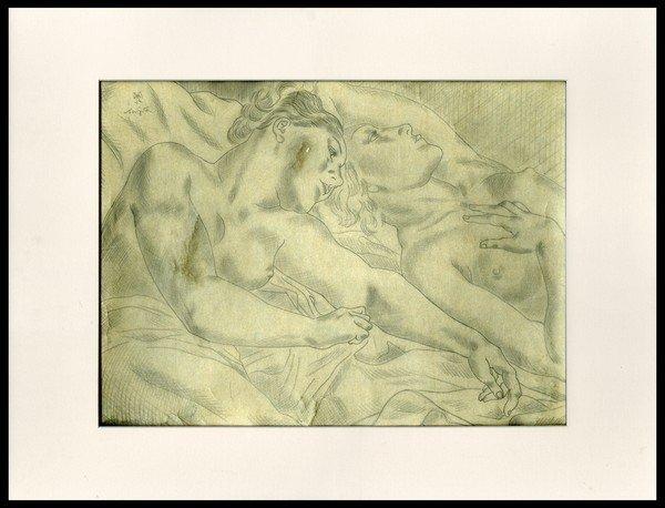 18: Leonard Foujita Pencil Sketch