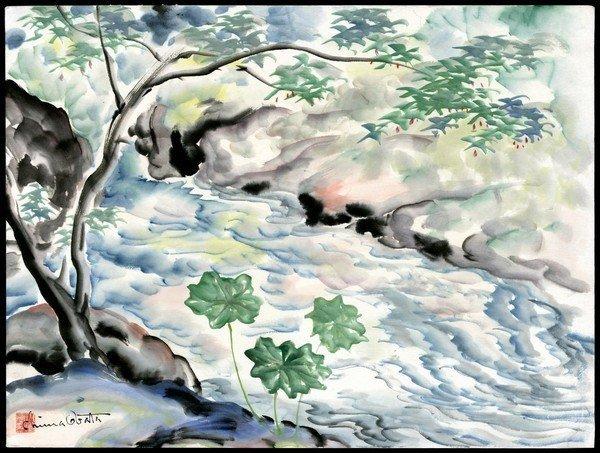 157: Chiura Obata Watercolor