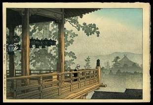 Kawase Hasui Woodblock - Nigatsu Hall, Nara