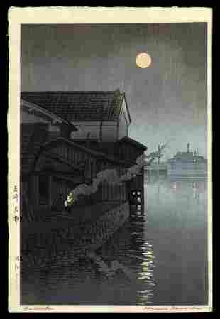Kawase Hasui Woodblock - Daimotsu, Amagasaki