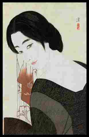 Kobayakawa Kiyoshi Woodblock - After the Bath