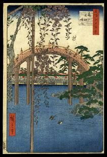 Ando Hiroshige Woodblock Print - Kameido Tenjin Shrine