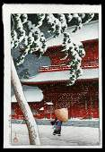 Kawase Hasui Japanese Print - Zojo Temple, Shiba