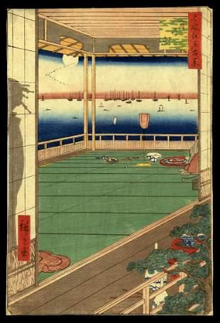 Ando Hiroshige Woodblock - Moon-Viewing Point