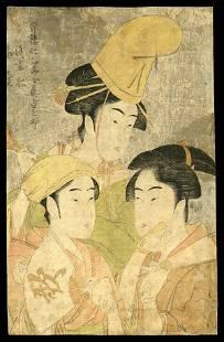 7: Kitagawa Utamaro Woodblock