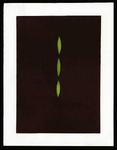 Yozo Hamaguchi Color Mezzotint - Green Poplars