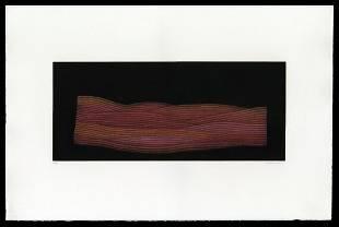 Yozo Hamaguchi Color Mezzotint - Red Field