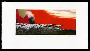 Shigeki Kuroda Color Etching - Lava