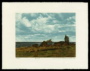 Shogo Okamoto Etching - Cloud and Sea