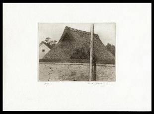 Ryohei Tanaka Etching - Roof and Mudwall