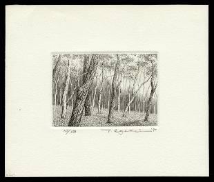 Ryohei Tanaka Etching - Season of Fallen Leaves