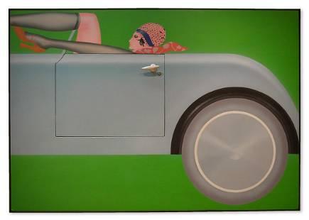 Masami Teraoka Acrylic On Canvas - Stick Shift