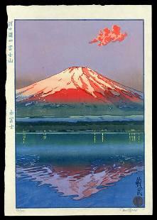 Paul Binnie Woodblock - Mt. Fuji and Lake Kawaguchi