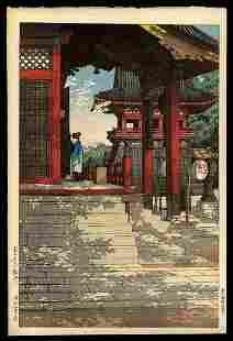Kawase Hasui Woodblock - Meguro Fudo Temple