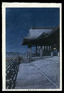 Kawase Hasui Woodblock - Kiyomizu Temple, Kyoto