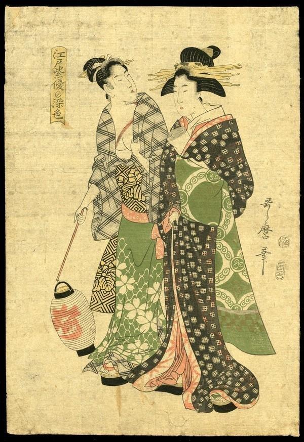 4: Kitagawa Utamaro Woodblock