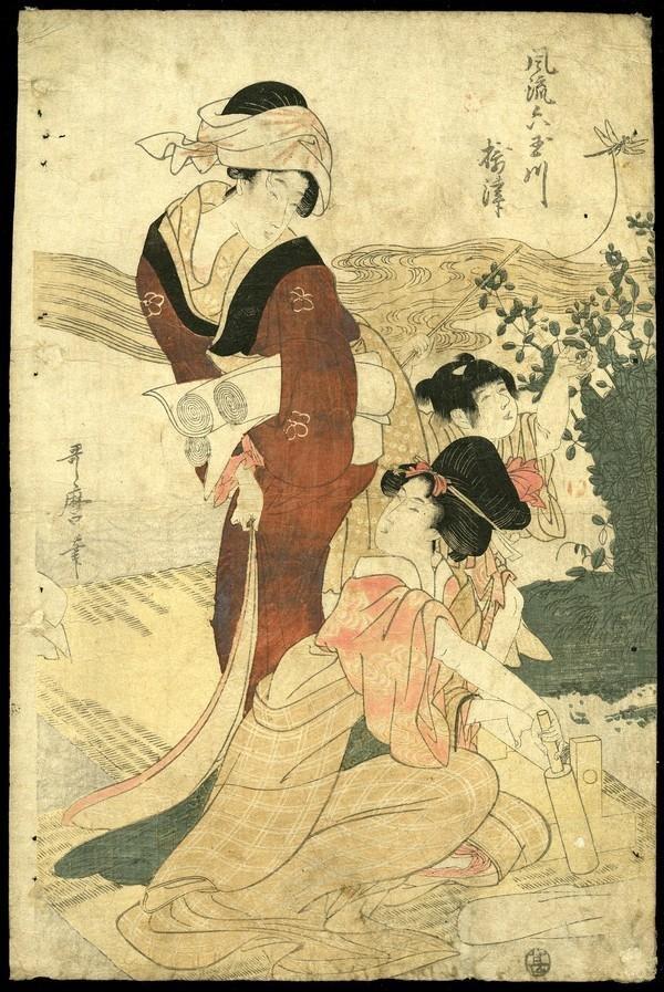 5: Kitagawa Utamaro Woodblock