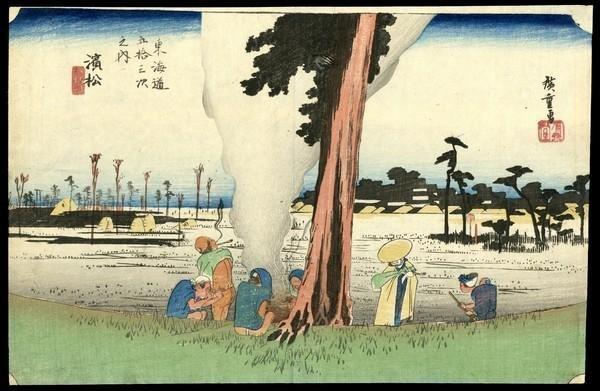 16: Ando Hiroshige Woodblock