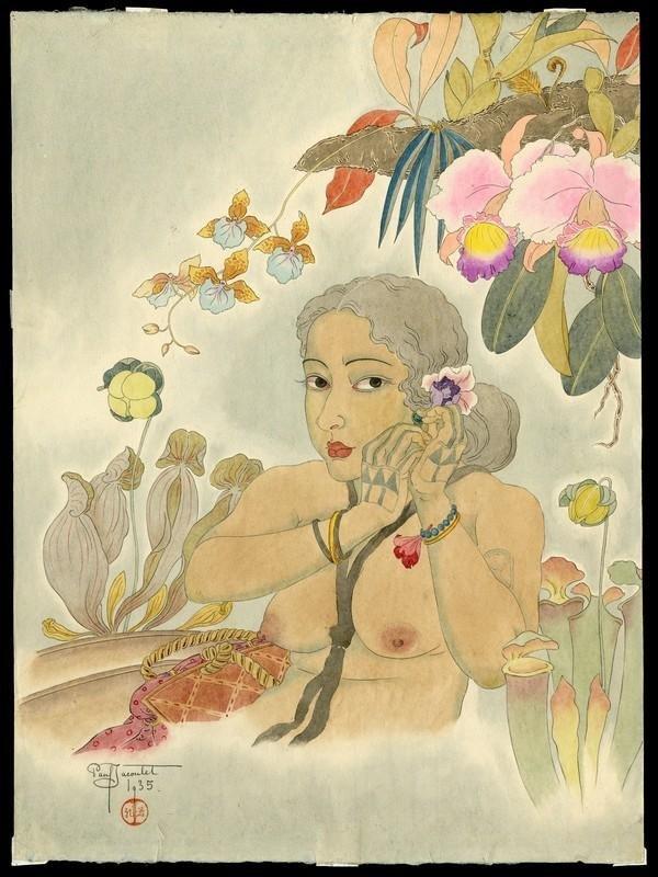 148: Paul Jacoulet Watercolor