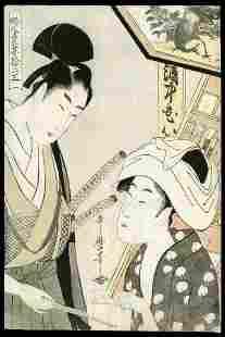 137: Kitagawa Utamaro Woodblock