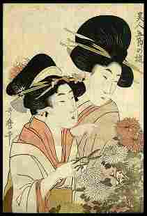 Kitagawa Utamaro Woodblock