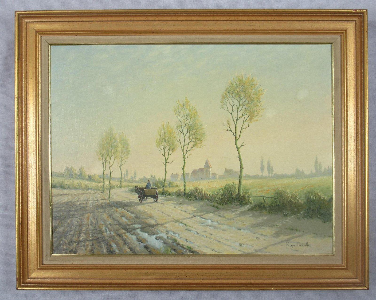 Roger Desoutter oil painting