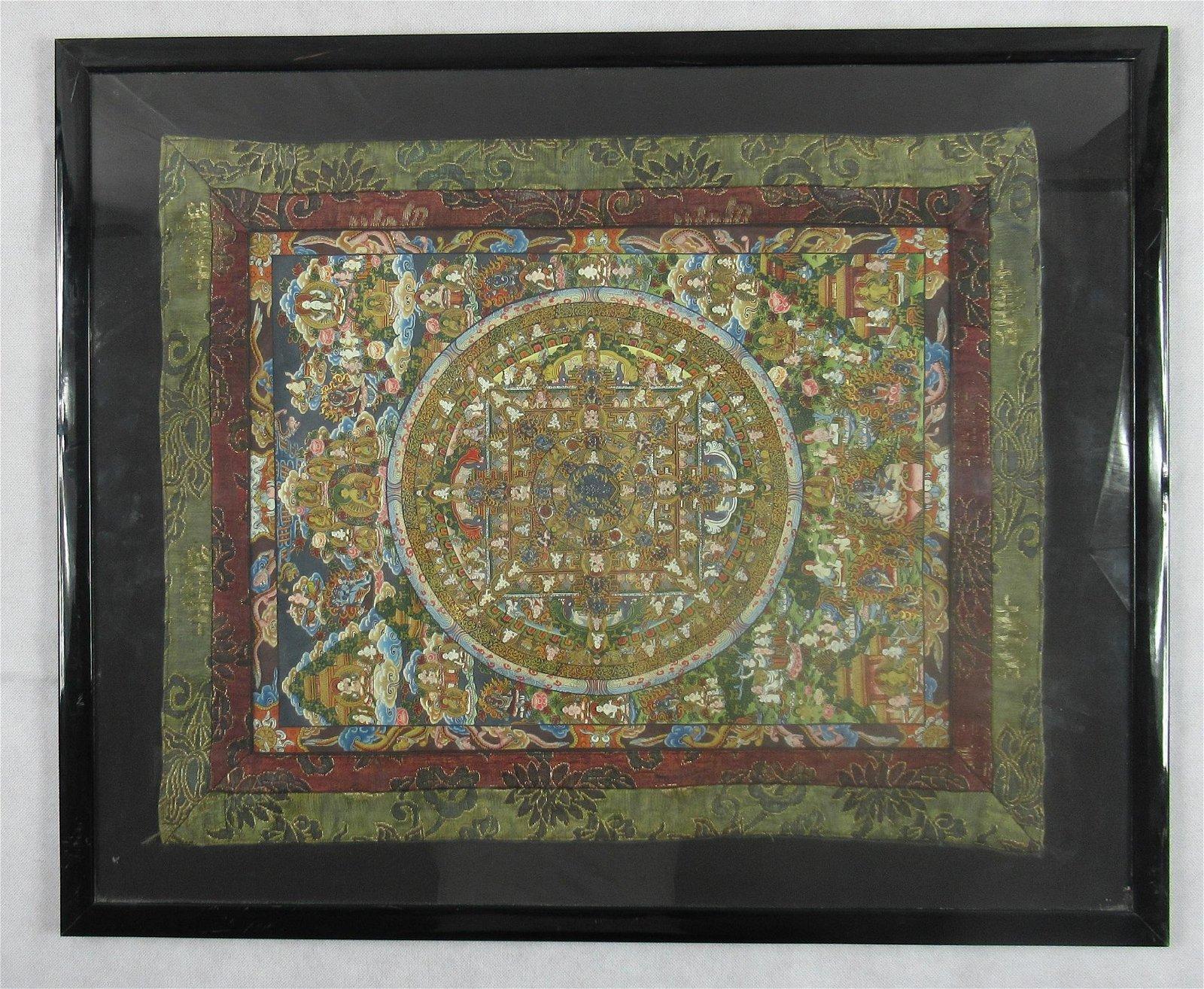 Oriental silk embroidery