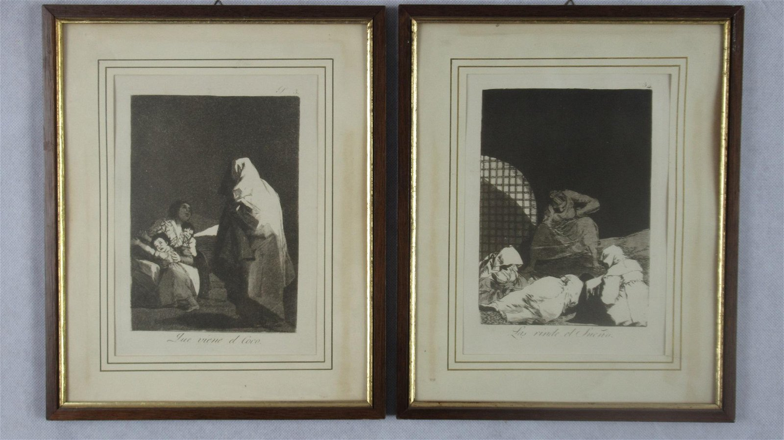 Pair 19thC prints