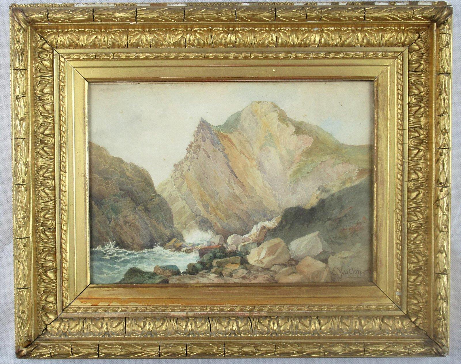 E. Hulton watercolour