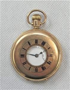 9ct Gold Half Hunter Pocket Watch