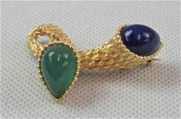 A Superb Boucheron 18ct Gold & Semi-Precious Stone 'Toi