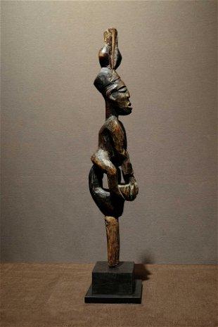 """aringo ogun Yoruba staff.  Prov: Gaetan Schoonbroodt"""