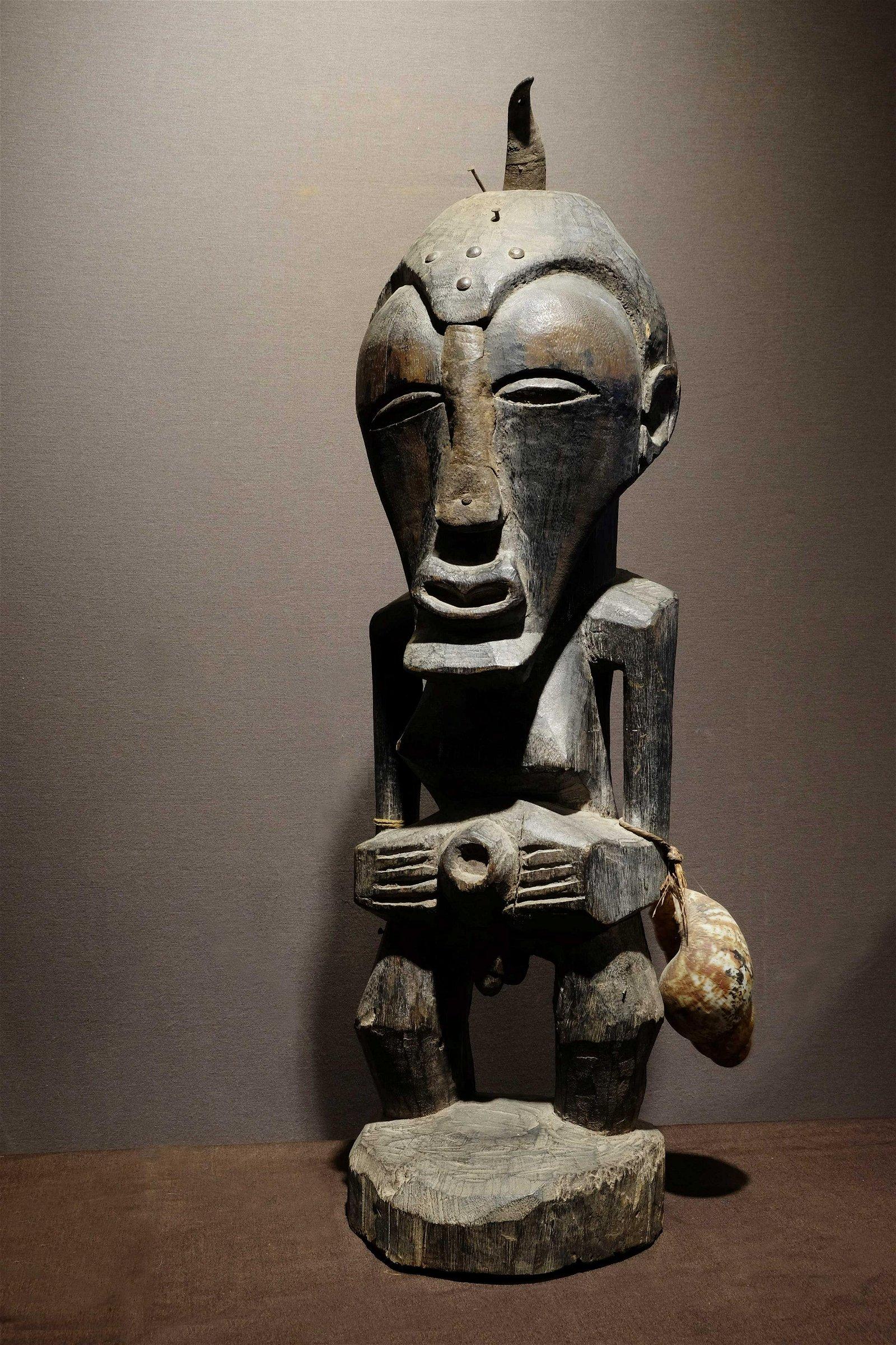 Large Songye Hermaphrodite Figure Prov: Van Caelenbergh