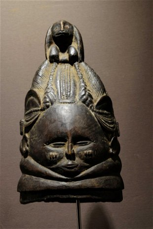 A Sowei Bundu mask from the Sande society