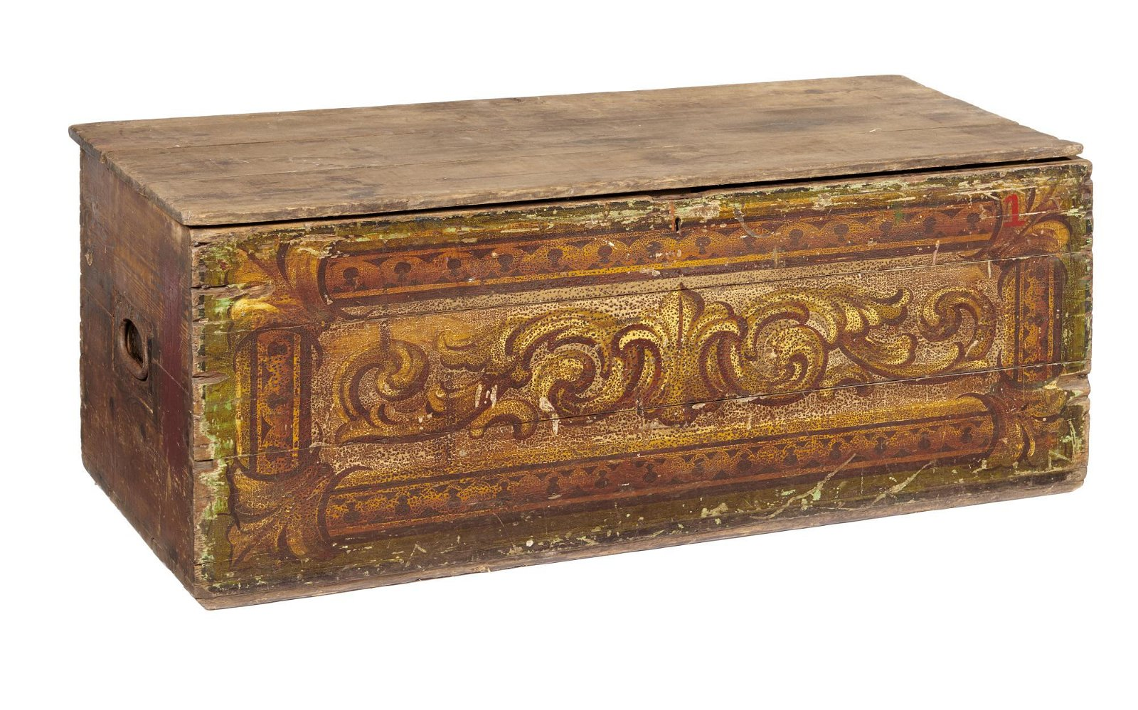 Storage: A similar painted pine chest
