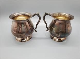 Vintage Leonard EPNS Footed Cups