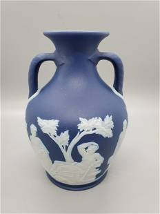 Vintage Wedgwood Jasperware Cobalt Blue Small Vase