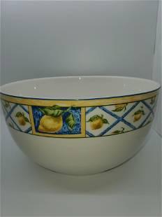 Royal Doulton 9 Salad Serving Bowl Lemon Trellis new