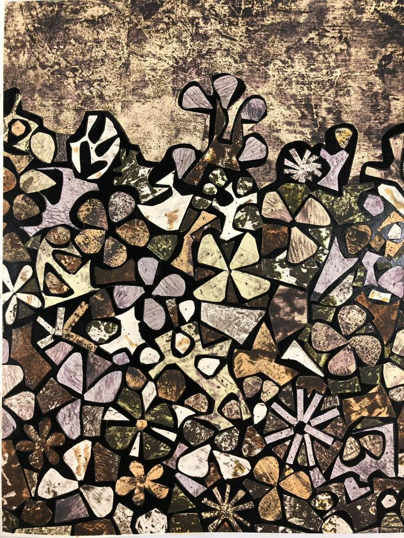 Jean Dubuffet - Jardin de quite-vite Pochoir en