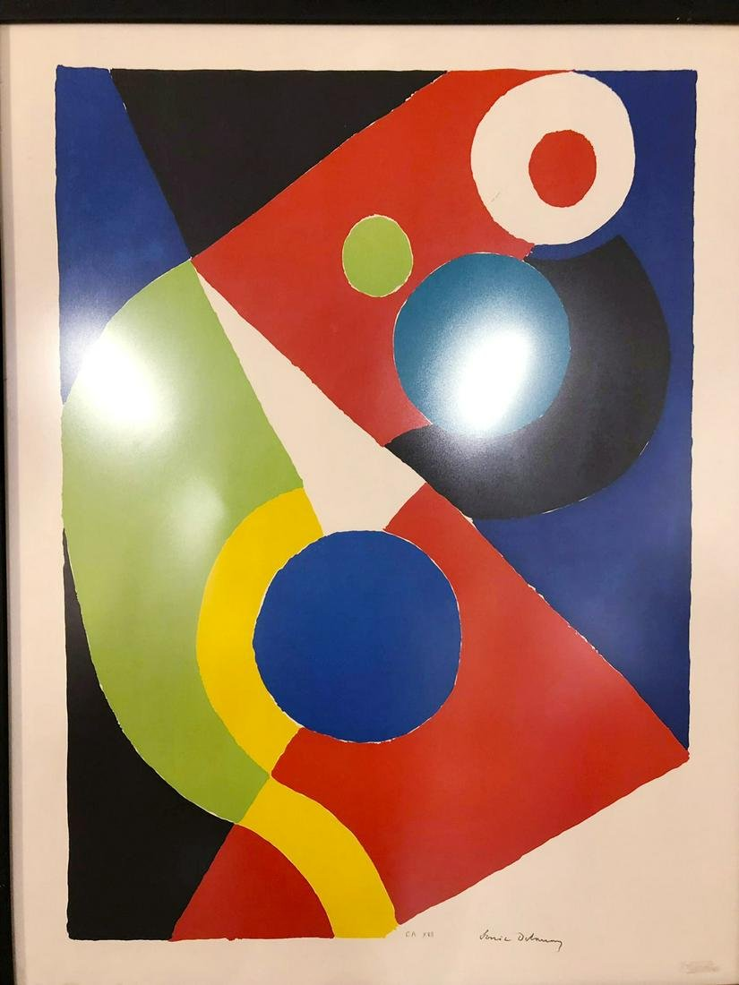 Sonia Delaunay - Circus Lithographie en couleurs sur