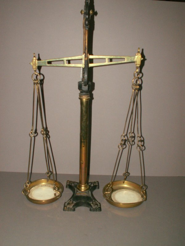 3: LARGE BRASS AND IRON SCALE.
