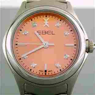 Ebel / Wave Diamond - Lady's Steel Wrist Watch