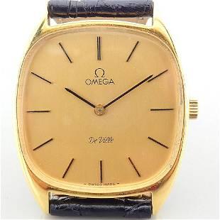 Omega / De Ville - Gentlmen's Yellow gold Wrist Watch