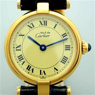 Cartier / Must De / Gold Plated - Lady's Silver Wrist